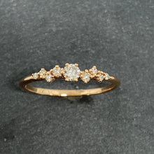 Load image into Gallery viewer, 9ct Rose Gold Staggered Diamond Ring