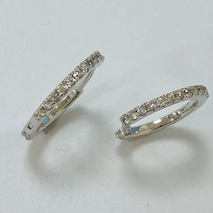 9ct White Gold Diamond Huggies 0.28ct