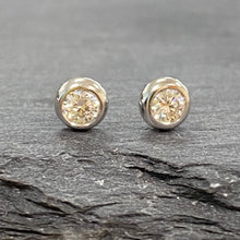 Load image into Gallery viewer, 18ct White Gold Diamond Studs 0.20ct
