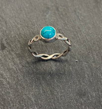 Load image into Gallery viewer, Woven Sterling Silver And Turquoise Ring