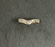 Load image into Gallery viewer, Palladium Wishbone Shaped Diamond Eternity Ring