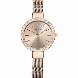 Ladies Bering Rose Plated Watch