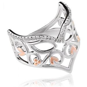 Clogau Masque Ring With White Topaz