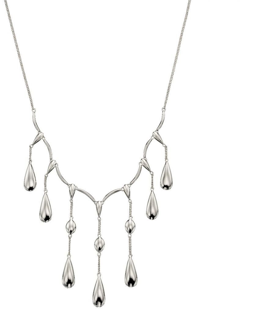 Sterling Silver Multi Drop Necklace