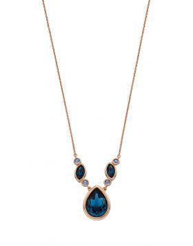 Multi Stone Blue Crystal Necklace