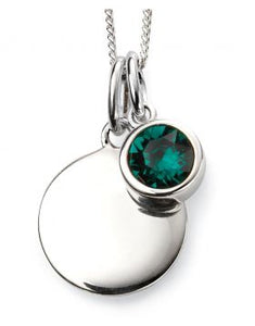 May Birthstone Necklace Emerald