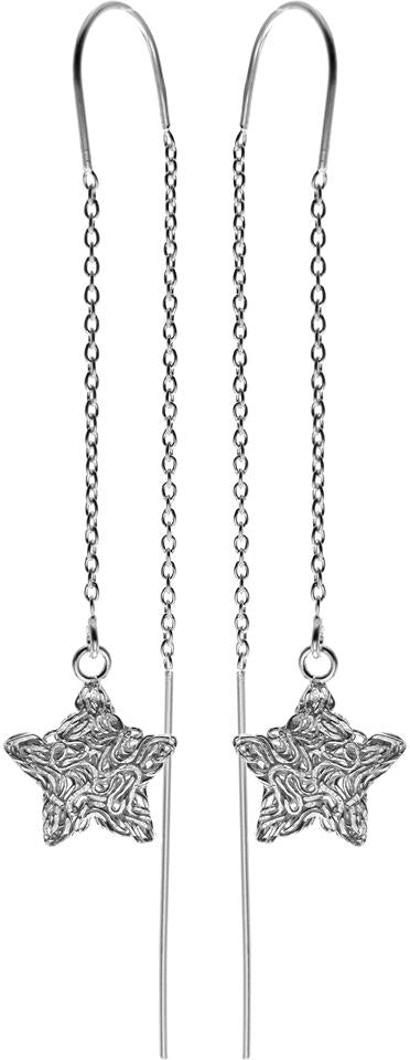 Sterling Silver Pull-Through Drop Earrings