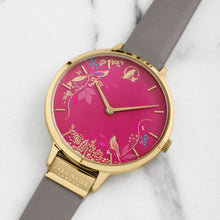 Load image into Gallery viewer, Sara Miller Pink Birds Watch Leather Strap
