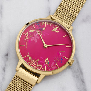 Sara Miller Pink Birds Watch