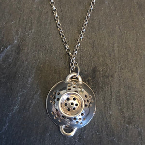 Sterling Silver Sieve Necklace