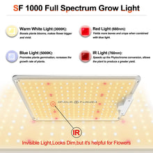Load image into Gallery viewer, New Spider farmer SF1000 LED Grow Light With Dimmer Knob Full Spectrum Samsung diodes QB - Spider Farmer LED