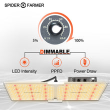 Load image into Gallery viewer, New Spider farmer SF2000 LED Grow Light With Dimmer Knob full spectrum samsung diodes QB - Spider Farmer LED