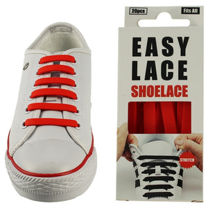 Easy Lace Silicone Shoe Laces (Adult) - RED