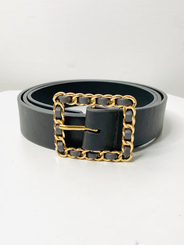 Hattie Woven Buckle Belt - GREY