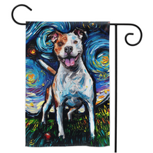 Load image into Gallery viewer, Pitbull Night, Happy, Yard Flags