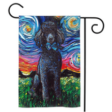 Load image into Gallery viewer, Poodle Night, Black, Yard Flags