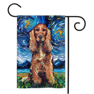 Cocker Spaniel Night Yard Flags