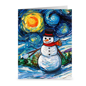 Frosty Night Christmas Greeting Card