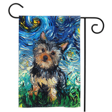Load image into Gallery viewer, Yorkie Night Yard Flags