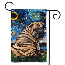 Load image into Gallery viewer, Shar Pei Night Yard Flags