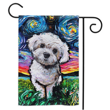 Load image into Gallery viewer, Maltipoo Night Yard Flags