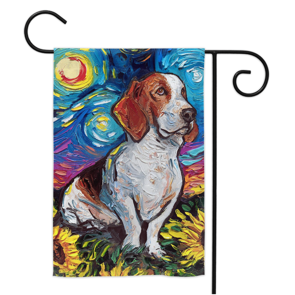 Bassett Hound with Sunflowers Yard Flags