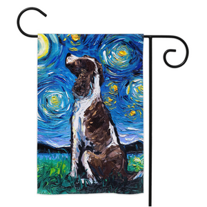 English Springer Spaniel Night Yard Flags