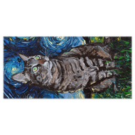 Tabby Night Beach Towel