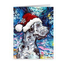 Load image into Gallery viewer, Great Dane Night, Merle, Christmas Greeting Card