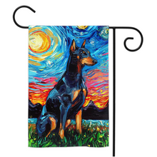 Load image into Gallery viewer, Doberman Night Yard Flags
