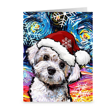 Load image into Gallery viewer, Maltipoo Night, Christmas Greeting Card