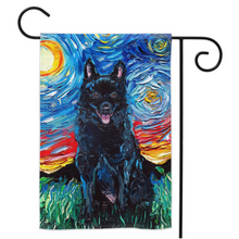 Load image into Gallery viewer, Schipperke Night Yard Flags