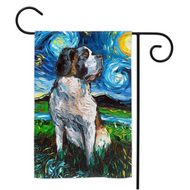 Saint Bernard Night Yard Flags