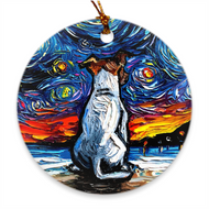 Jack Russell Terrier Night 2 Ornament