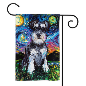 Schnauzer Night Yard Flags