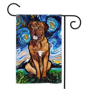 Doge De Bordeaux Night Yard Flags