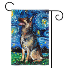 Load image into Gallery viewer, German Shepherd Night Yard Flags