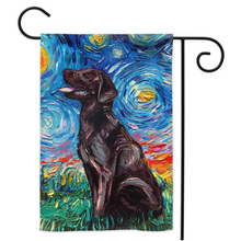 Load image into Gallery viewer, Labrador Night, Chocolate, Yard Flags