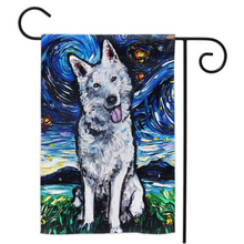 Load image into Gallery viewer, Swiss Shepherd Night Yard Flags