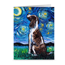 Load image into Gallery viewer, English Springer Spaniel Night Greeting Card