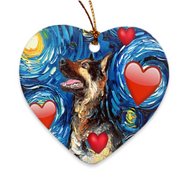 German Shepherd Love Ornament