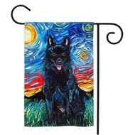 Schipperke Night Yard Flags