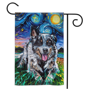 Australian Cattle Dog Night Yard Flags