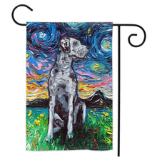 Load image into Gallery viewer, Great Dane Night, Merle, Yard Flags