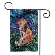 Load image into Gallery viewer, Dachshund Night Yard Flags
