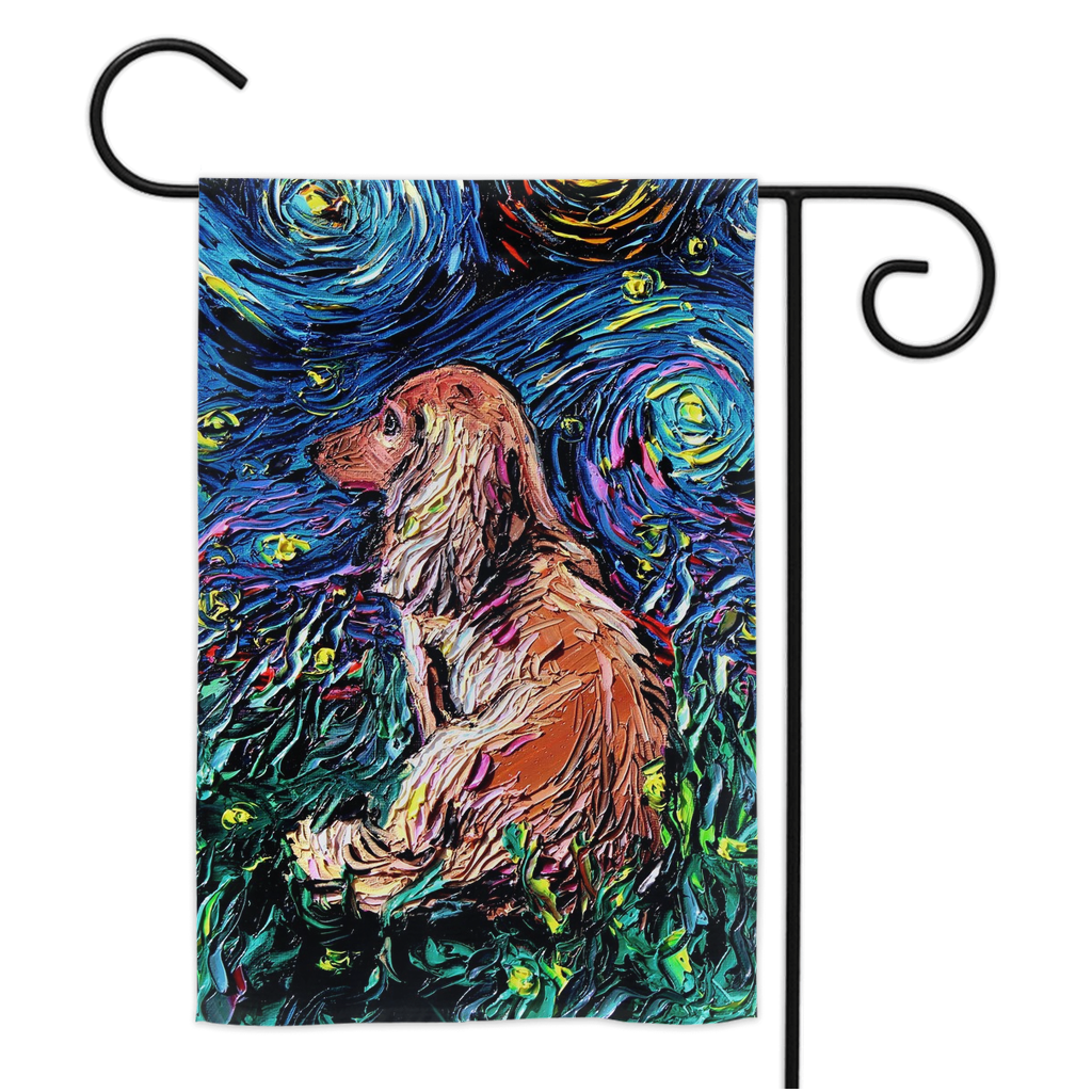 Dachshund Night Yard Flags
