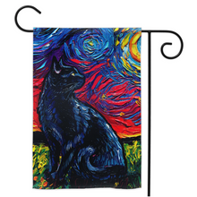 Load image into Gallery viewer, Black Cat Night, version 2, Yard Flags