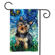 Yorkie Night Yard Flags
