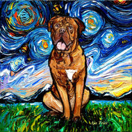 Dogue De Bordeaux Night Canvas Print
