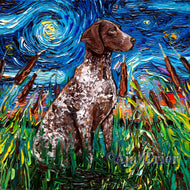 German Shorthaired Pointer Night Canvas Print